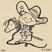 Saddle Up Cowboy Rubber Stamp By DRS Designs