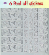 JEJE Produkt 6-Pack Peel Off Stickers with Corners Silver