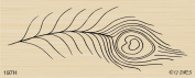 Peacock Feather Rubber Stamp By DRS Designs