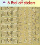 JEJE Produkt 6-Pack Peel Off Stickers with Corners Gold