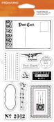 Fiskars 103810-1001 Clear Stamps, 10cm by 20cm , Certified Mail