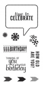 Fiskars 104250-1001 Clear Stamps, 10cm by 20cm , Time to Celebrate