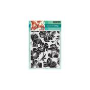 Penny Black Poppy Pattern Decorative Stamp