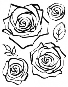 Viva Décor 400302500 Rose 3D Clear Silicone Stamp
