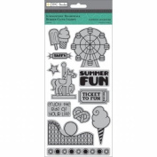 Summertime Rubber Cling Stamps 10cm x 20cm -Boardwalk