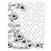 What's Up Floral Dot Background Cling Stamp Co Branded With Hero Arts