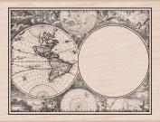 Hero Arts Map Card Woodblock Stamp