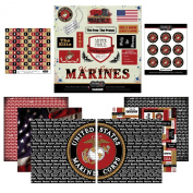 Scrapbook Customs Themed Paper and Stickers Scrapbook Kit, Marine