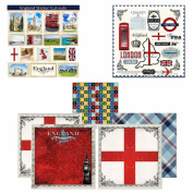 Scrapbook Customs Themed Paper and Stickers Scrapbook Kit, England Sightseeing