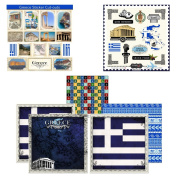 Scrapbook Customs Themed Paper and Stickers Scrapbook Kit, Greece Sightseeing