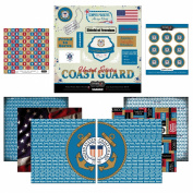 Scrapbook Customs Themed Paper and Stickers Scrapbook Kit, Coast Guard
