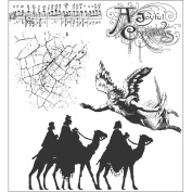Stampers Anonymous Tim Holtz Cling Rubber Stamp Set, Joyful Song
