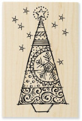 Stampendous Wood Handle Stamp, Tinsel Tree