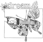 Dream Butterfly Wood Mounted Rubber Stamp