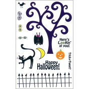 Our Craft Lounge Unmounted Red Rubber Stamp Set, Spooky Nights