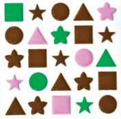 ColorStories Puffy Mesh Stickers-Brown