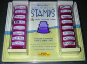 16 Unique Self-Inking Wedding and Vacation Memory Making Stamps by MessageStor