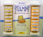 16 Unique Self-Inking Stamps Memory Making Baby and Toddler by MessageStor