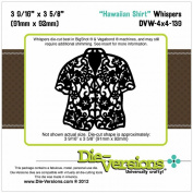 Die-Versions Whispers Die-Hawaiian Shirt, 9cm x 9.2cm