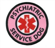 Pink PSYCHIATRIC SERVICE DOG Medical Alert Symbol 6.4cm Sew-on Patch