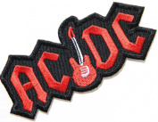 AC/DC ACDC Guitar Heavy Metal Rock Punk Music Band Logo Polo T shirt Patch Sew Iron on Embroidered Badge Sign Costum