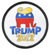 DONALD TRUMP for PRESIDENT Politics 2012 Hair 6.4cm Sew-on Black Rim Patch