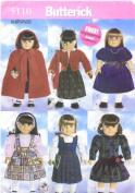 Butterick 5110 46cm Doll Clothes Fits American Girl Doll Clothing Pattern