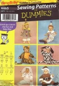 Simplicity 4465 Sewing Patterns for Dummies Toddler Costumes Size A