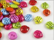 100pc Mix Ladybug Plastic Button 2holes Craft