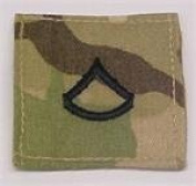 MultiCam RANK Insignia hook and loop R) or HOOK Fastener E-3 PFC Black