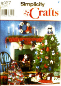 Simplicity 9327 Crafts Sewing Pattern Christmas Ornaments Wreath Stocking Tree Skirt Topper Scarf Santa Decorative Quilt