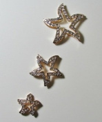 3pcs Gold Rhinestone Stars Set By Pixiheart