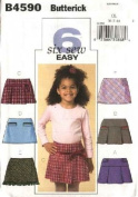 Butterick B4590 Pattern for Girls' Skirts