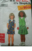 CHILDS VEST AND SHORTS SIZE 3-4-5-6-7-8 EASY SIMPLICITY SEWING PATTERN 7696