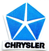 Chrysler Mopar Racing Car Truck Logo Jacket T-shirt Patch Sew Iron on Embroidered Badge Emblem Sign Size 7cm width X 7cm height