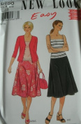 MISSES TOP, CARDIGAN & SKIRT SIZES 6-8-10-12-14-16 EASY NEW LOOK BY SIMPLICITY PATTERN 6158