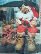 SANTA AND RUDOLPH - 30cm DOLLS - SEWING PATTERN BA12 FROM BEARLY ANTIQUES - ANTIQUING - NO SEW CLOTHING