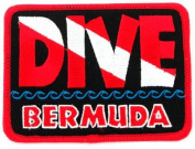 Dive Bermuda Patch Embroidered Iron On Scuba Diving Flag Emblem Souvenir