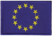 European Union EU Flag Embroidered Sew on Patch