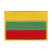 Lithuania Flag Embroidered Sew on Patch