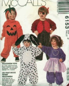 McCall 6153 sewing pattern makes Toddlers Costumes Pumpkin, Tux, Pirate, Dog size 3 OOP