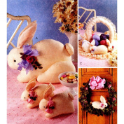 McCall's Crafts Pattern 9165 Bunny Package Easter Bunnies Wreathe Basket