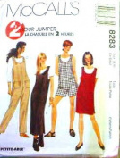 McCall's Sewing Pattern 8283 Misses' 2 Hour Jumper, Jumpsuit & Romper, SM