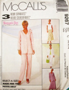 McCall's Sewing Pattern 9267 ~ Misses Jacket, Top, Pull-on Pants, & Bias Skirt, - SIZE 10, 12, 14