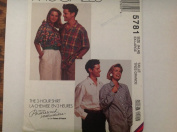 McCalls 5783 Sewing Pattern for Misses men's unisex roomy 3-hour shirts for 44-46 chest/bust or XL