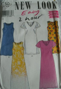 MISSES DRESS WITH SLEEVE & NECK VARIATIONS SIZE 8-10-12-14-16-18 NEW LOOK VERY EASY 2 HOUR PATTERN 6750