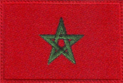 Morocco Flag Embroidered Sew on Patch