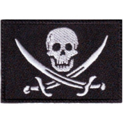 Pirates Flag Embroidered Sew on Patch