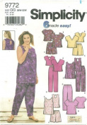 SIMPICITY PATTERN 9772 WOMENS' TOPS AND PANTS OR SHORTS SIZE FF 18W-24W