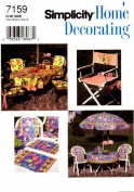 Simplicity 7159 Home Decorating Sewing Pattern Deck & Patio Accessories